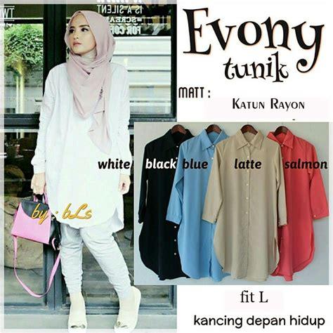 Baju Atasan Wanita Dress Gamis Busana Blouse Tunic 083250 Atasan Baju Muslim Evony Tunic Evony Tunic Grosir Baju