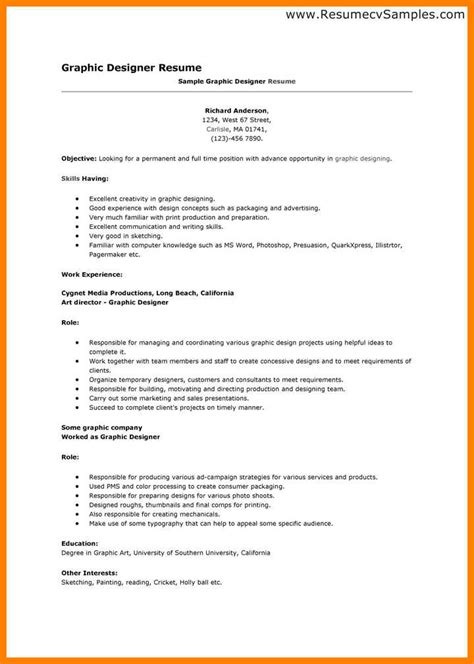 graphic resumes templates 11 graphic designer resume word format applicationleter