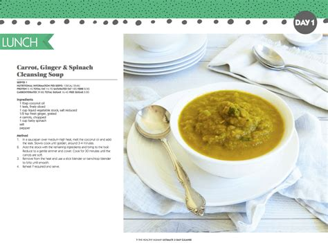3 Day Soup Detox Plan by 3 Day Cleanse Winter Version Ebook The Healthy Mummy