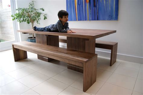 wooden dining tables with benches walnut dining table benches mijmoj