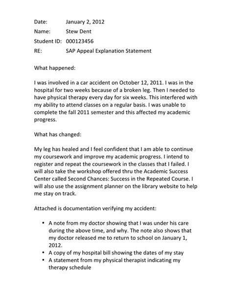 Appeal Letter Sle For Academic Suspension Finaid The Financial Aid Information Page Exle Of