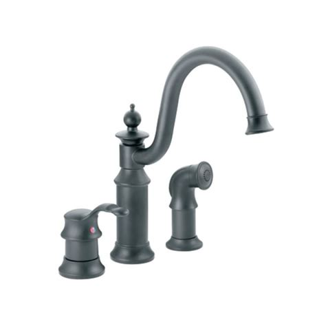 Wr Kitchen Faucet Moen S711wr Wrought Iron High Arc Kitchen Faucet With Side Spray From The Waterhill Collection