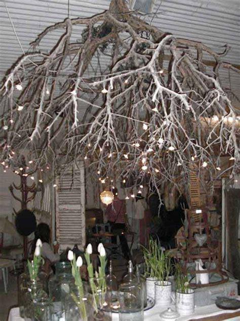Twig Chandelier Diy 30 Creative Diy Ideas For Rustic Tree Branch Chandeliers