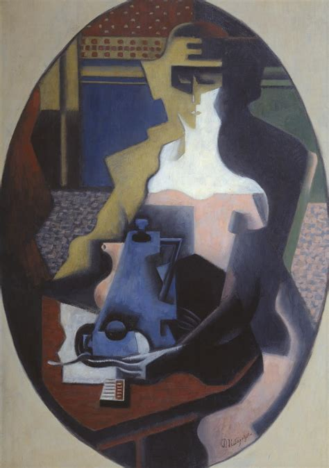 Lukisan Modern Coffe Cf2 with a coffee pot jean metzinger tate
