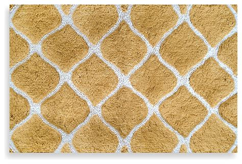 Gold Bathroom Rugs Colordrift Morocco Gold Bath Rug Contemporary Bath Mats By Bed Bath Beyond