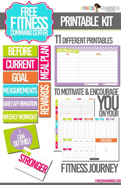 weight loss planner letter size fitness planner work out