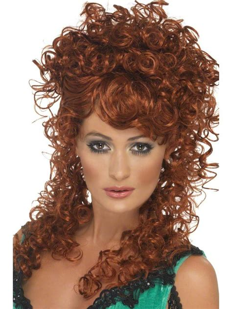 blonde curly partial up do spicy girl wig ebay saloon girl auburn wig 42243 fancy dress ball