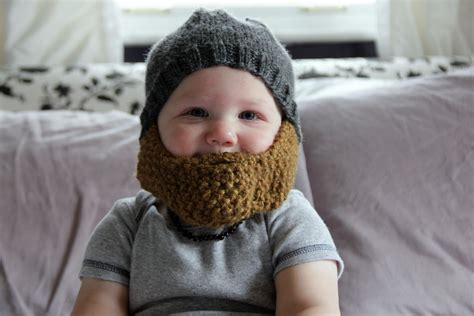knitted baby beard baby hat archives charmingly modern