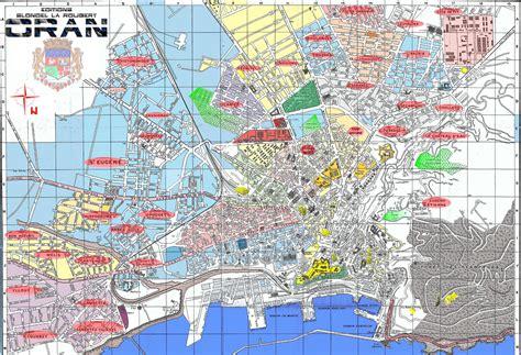 d oran plan des rues de la ville d oran en alg 233 rie