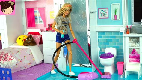 barbie doll house price in philippines barbie house cleaning morning routine grocery store s doovi