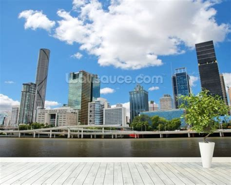 cityscape wall murals brisbane cityscape wallpaper wall mural wallsauce usa