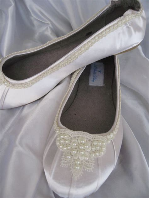 ivory bridal shoes flats items similar to wedding shoes ivory bridal ballet flats