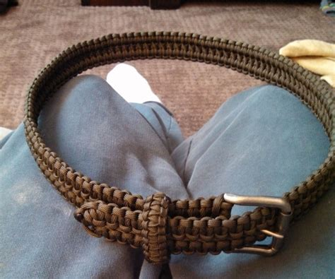 cobra stitch paracord belt 9 steps with pictures