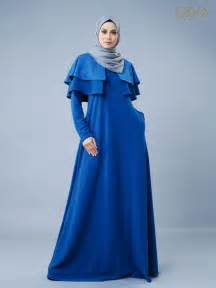 jubah muslimah moden ellianor cape navy blue osra exclusive osra exclusive