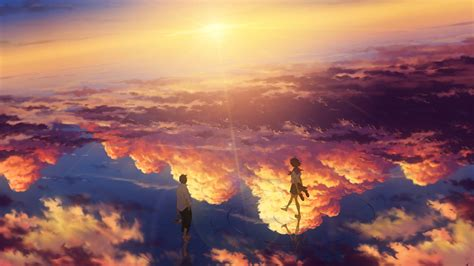 anime landscape android wallpaper download 1920x1080 anime landscape beyond the clouds