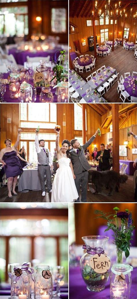 rustic purple wedding ideas wedding grey and the purple
