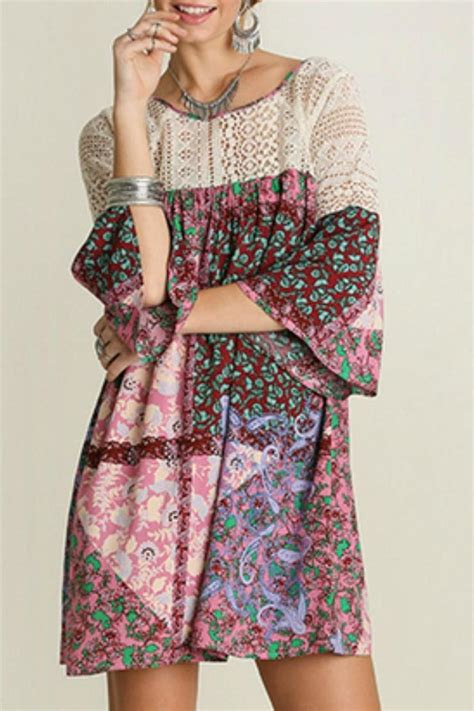 Patchwork Apparel - umgee usa paisley patchwork dress from mississippi by exit