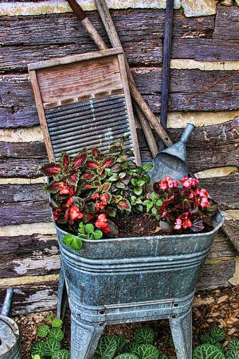 Garden Tubs And Planters by Best 25 Wash Tubs Ideas On Galvanized Wash