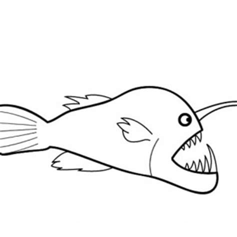 angler fish sharp teeth coloring pages angler fish sharp dangerous deep sea fish angler fish coloring pages best