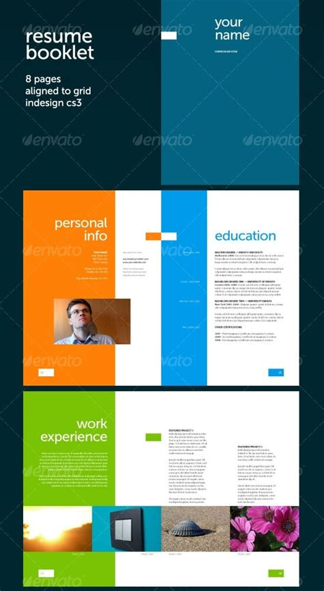resume booklet template awesome resume cv templates 56pixels