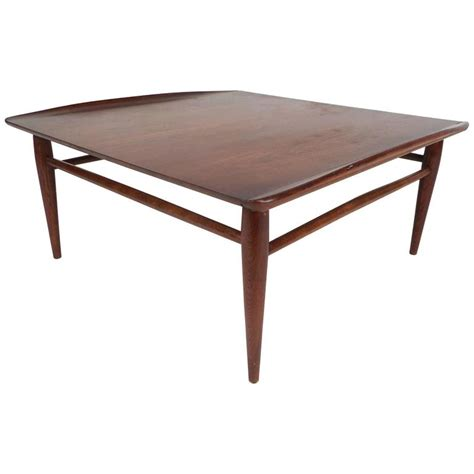 Modern Square Coffee Tables Mid Century Modern Square Walnut Coffee Table By Bassett For Sale At 1stdibs