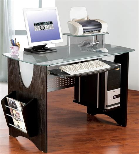 glass desk with storage stylish frosted glass top computer desk with storage