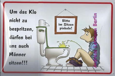 Aufkleber Toilettenordnung by Blechschild 20x30 Im Sitzen Pinkeln Toilette Klo Wc M 228 Nner