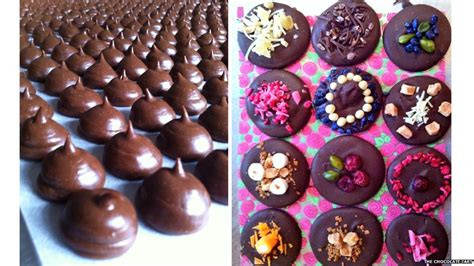 Handmade Chocolates - food in pictures handmade chocolate
