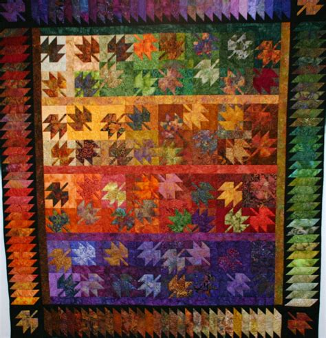 Leaf Quilt Pattern by Sew N Oaks Quilting Scrappy Leaves Class Is In