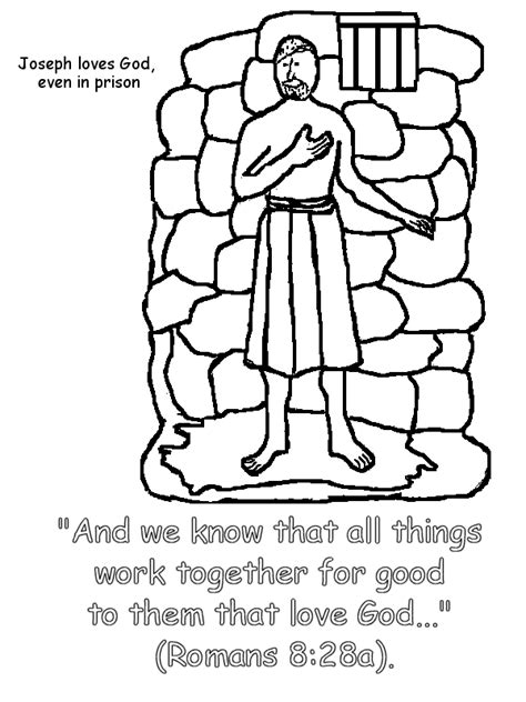 Joseph In Prison Coloring Pages joseph in prison coloring page