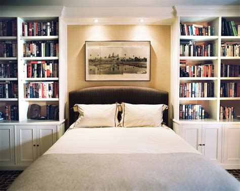 Bedroom Bookshelf | bookcase bed photos design ideas remodel and decor lonny