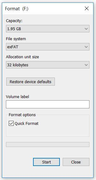 format exfat on windows how to copy large video files to a usb flash drive or