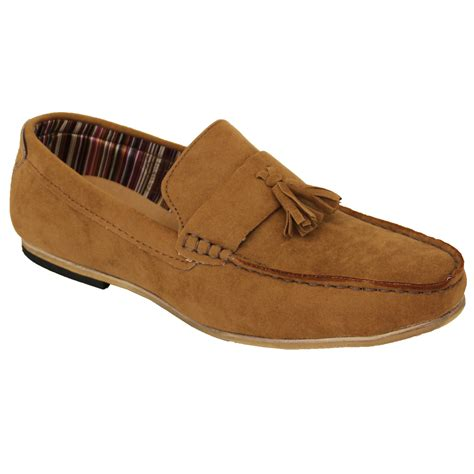 boat shoes universal store mens moccasins suede look loafers slip on boat shoes by