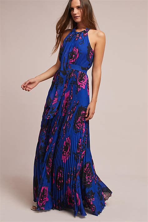 Flower Dress Pink Autumn Maxi Dress Dress fall floral print dresses on trend for wedding guests brunch and more