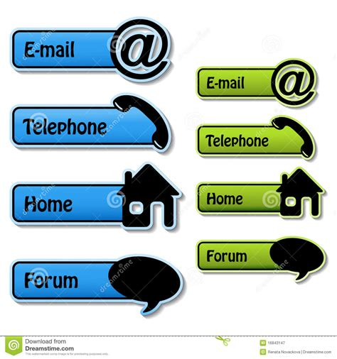 vector banners telephone email home forum royalty