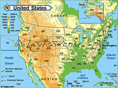 elevation map of usa and canada elevation map usa clubmotorseattle