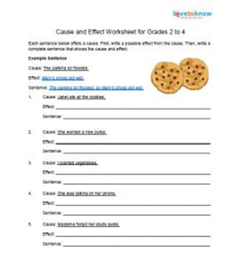 Cause And Effect Worksheets 2nd Grade by Teaching Cause And Effect Lovetoknow