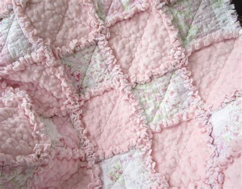 top 28 shabby fabrics rag quilt shabby chic rag quilt flannel pink and green flannel rose