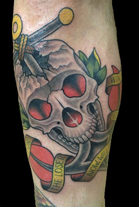 traditional skull tattoo skull archives page 3 of 7 to the needle