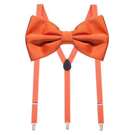 bow tie and suspenders set coral suspenderstore