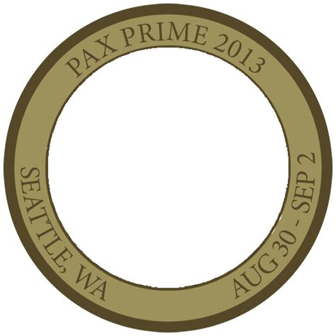 Pax Prime 2015 Challenge Coin Additional Coins Available Penny Arcade Powerpoint Challenge Coin Template