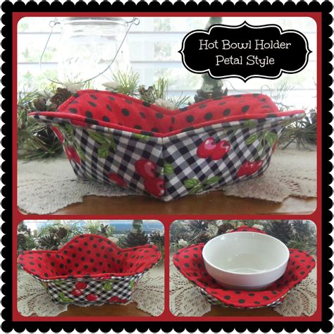 sewing pattern bowl holder 1 hour hot bowl cozy holder petal style cozy bowls and
