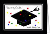 middle school congratulations on graduation cards from greeting card universe