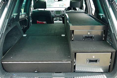 rear drawer system for vw touareg