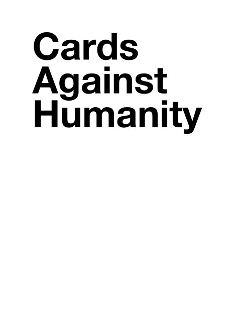 cards against humanity size template better custom printed cards than the printerstudio
