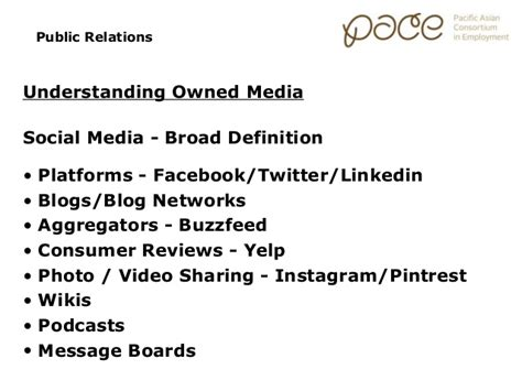 broader themes definition marketing essentials public relations earned media