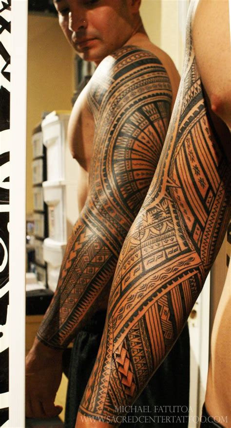 samoan sleeve tattoo designs arm sacred center polynesian