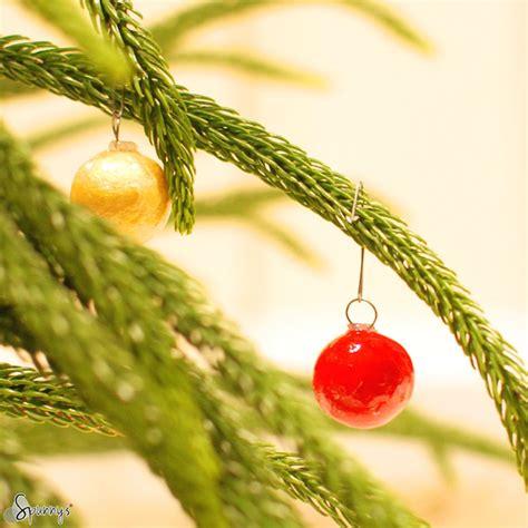 small christmas balls diy mini ornaments easy to make spunnys