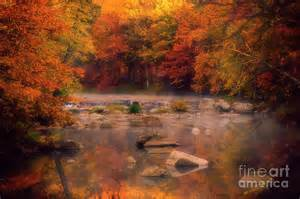 fall color wisconsin fall foliage and a wisconsin river photograph by katya horner