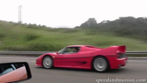 Lamborghini F50 F50 And Lamborghini Lp640 High Speed On Freeway